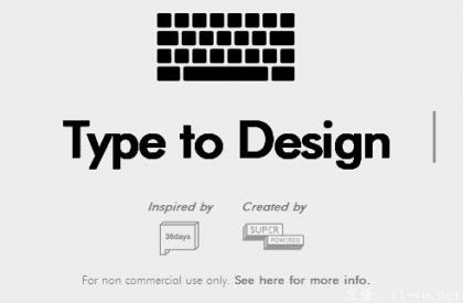 type to design
