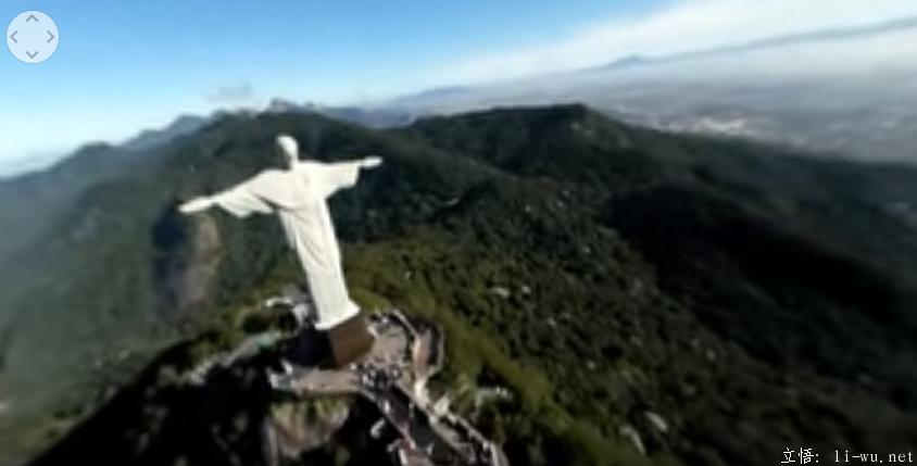 里约360度全景视频动力伞飞行