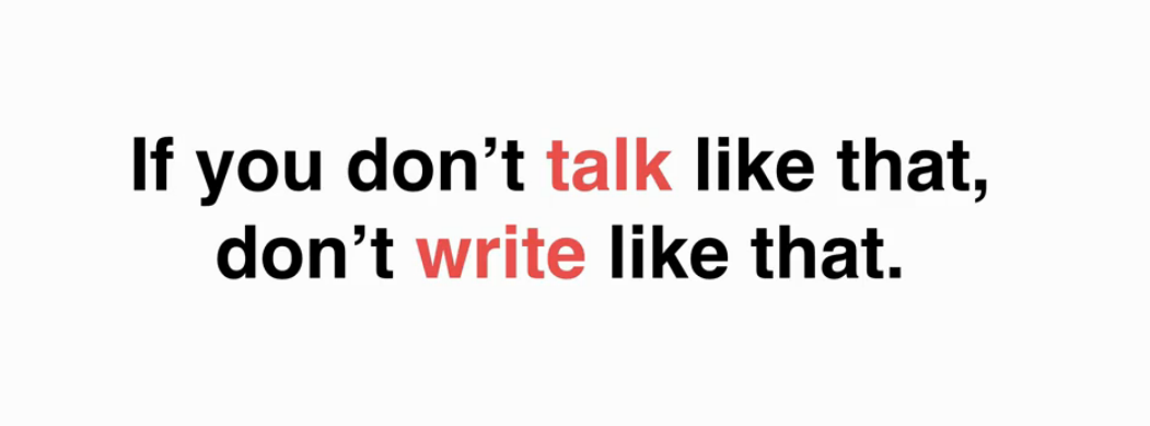 copywriting no 1 rule